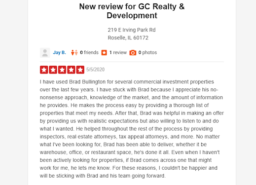 Yelp Review For Commercial Services
